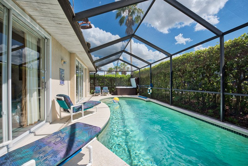Tropical Back drop for Pool Deck and Tub