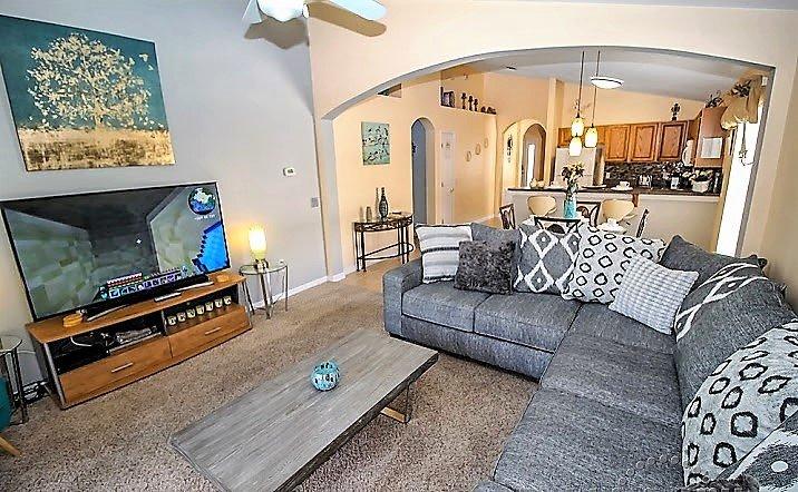 Family Room Overlooking Deck Areak, Imagine Yourself Here