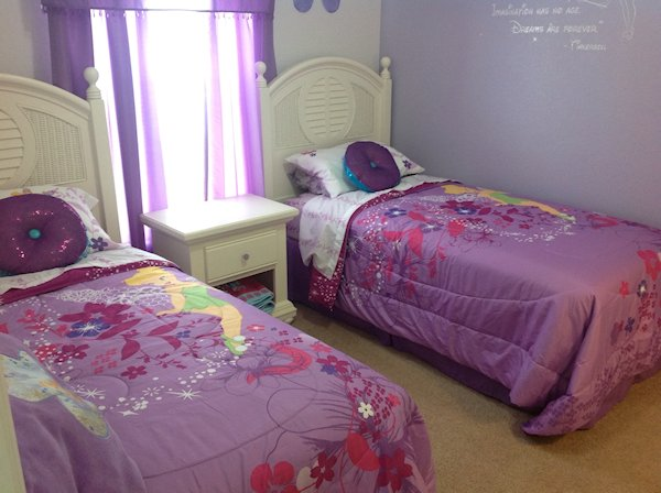 Tinkerbell twin bedroom (alternative bedding is available)