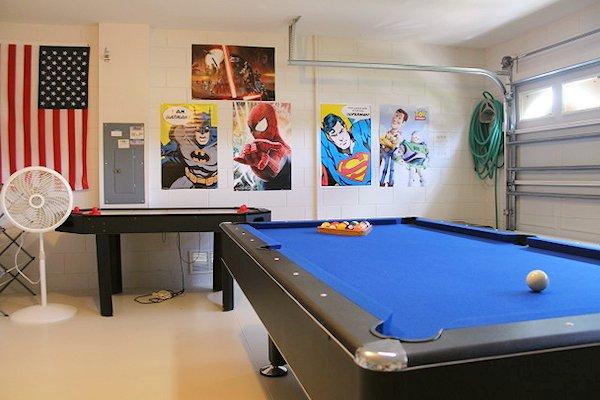 Pool table plus air hockey